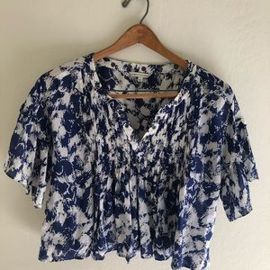 Fluttery Rebecca Minkoff Top With Pintucks
